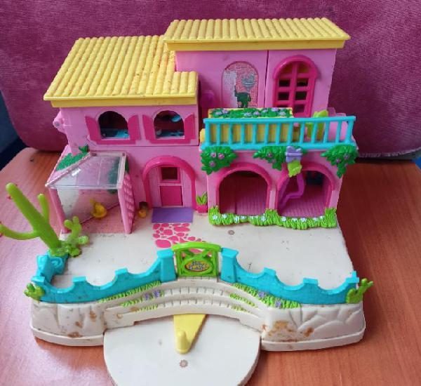 Casa chalet de juguete.polly pocket. año 2000, mattel.