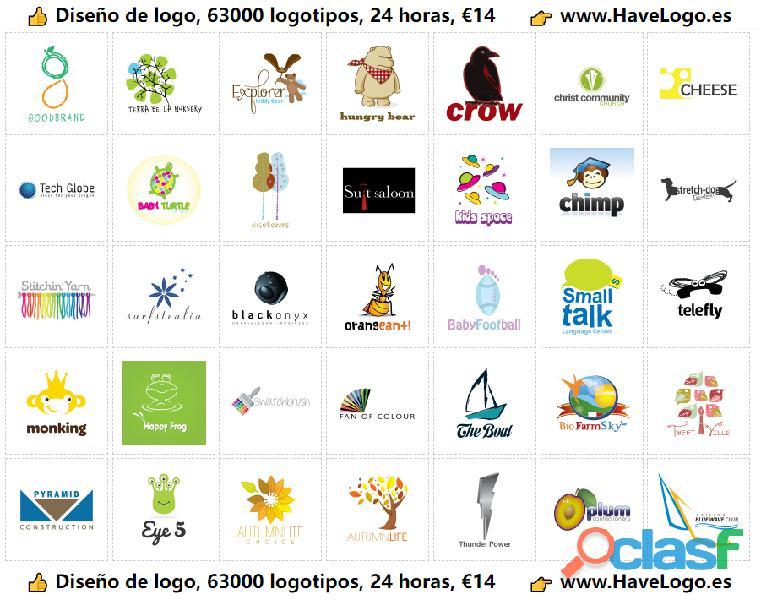 Diseño de logo   diseño de logotipos   Logotipos(63000)   24 horas   €14