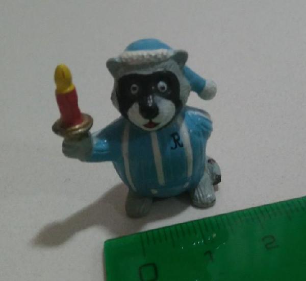 Figura mapache pijama animal muñeco figurita miniatura mini