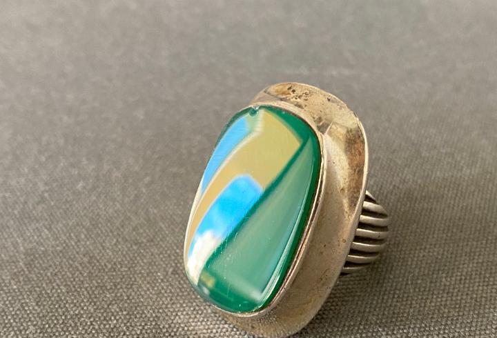 S´paliu anillo de plata de ley contrastado 925, vintage
