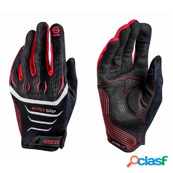 S002094nrrs10 - guantes hypergrip talla 10 negro/rojo sparco
