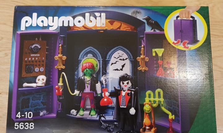 Playmobil maletín terror halloween frankenstein y drácula